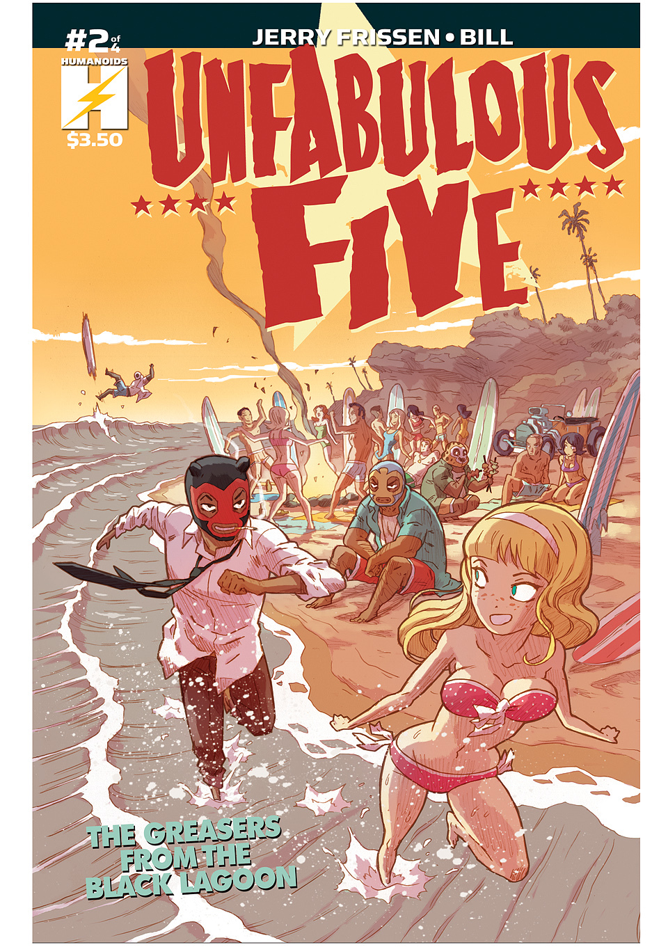 Unfabulous Five - Digital Comic #2 : Unfabulous Five: The Greasers From The Black Lagoon 2 of 4