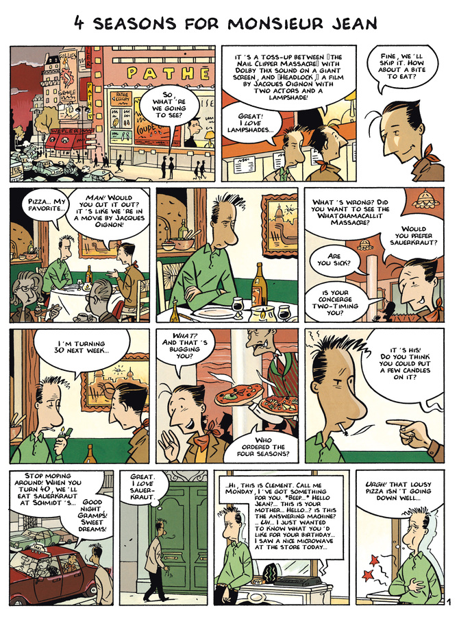 Excerpt 0 : Monsieur Jean #2 : Insomnia - Digital Comic