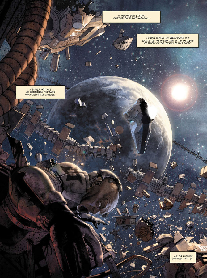 Excerpt 0 : The Metabaron #1 : The Techno-Admiral & The Anti-Baron - Oversized Deluxe