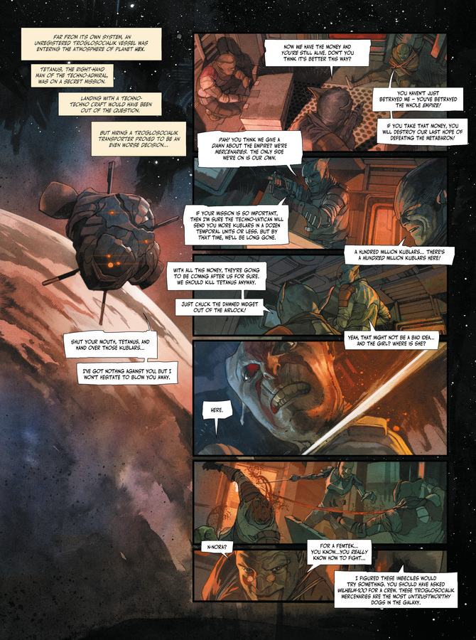 Excerpt 0 : The Metabaron #1 : The Techno-Admiral & The Anti-Baron - Softcover Trade
